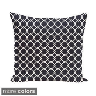 Trellis Diamond Geometric 18-inch Decorative Pillow