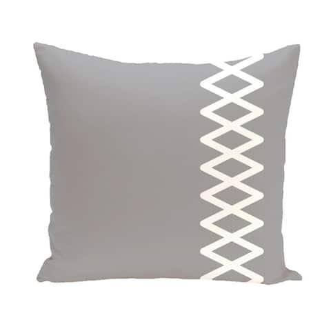 Side Diamond Stripe Geometric 18-inch Decorative Pillow