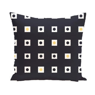 Abstract Check Geometric 18-inch Decorative Pillow