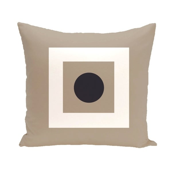 Bordered Geometric 16-inch Decorative Pillow