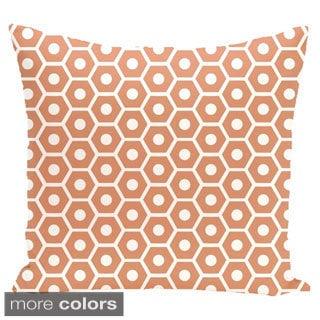 Geometric Honeycomb 18-inch Decorative Pillow