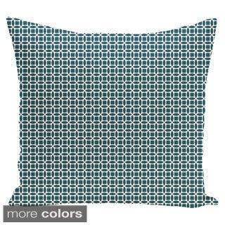 Abstract Trellis Geometric 18-inch Decorative Pillow
