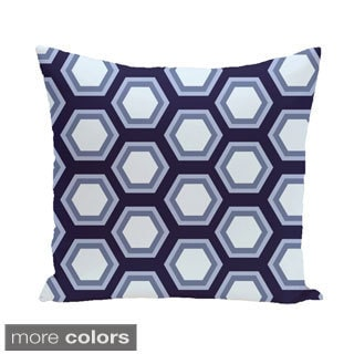 Abstract Honeycomb Geometric 18-inch Decorative Pillow