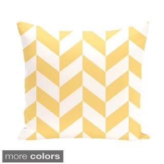 Mixed Chevron Geometric 18-inch Decorative Pillow