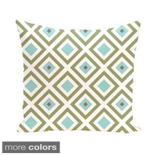 Diamond Geometric 18-inch Decorative Pillow