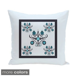 Bordered Abstract Geometric 18-inch Decorative Pillow