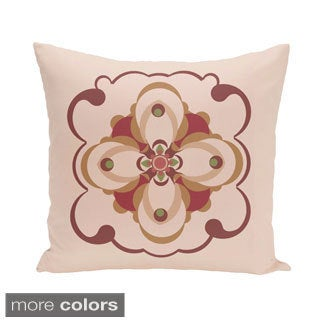 Abstract Floral Geometric 18-inch Decorative Pillow