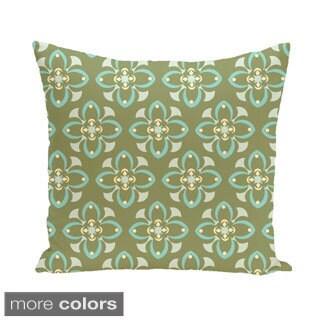 Multi Geometric Floral 18-inch Decorative Pillow