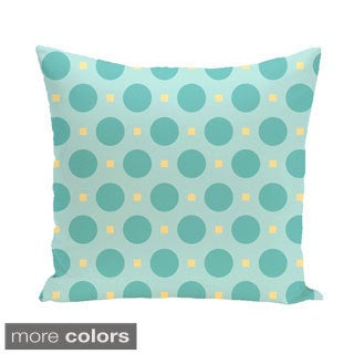 Abstract Polka-dot Geometric 18-inch Decorative Pillow