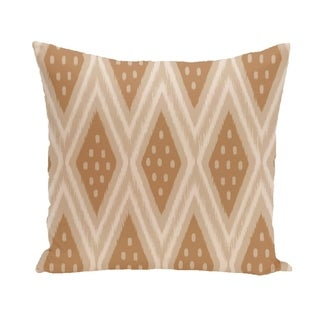 Tribal Diamond Geometric 18-inch Decorative Pillow