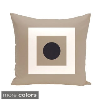 Bordered Geometric 18-inch Decorative Pillow
