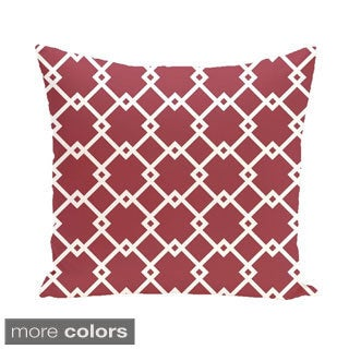 Large Diamond Trellis Geometric 20-inch Decorative Pillow
