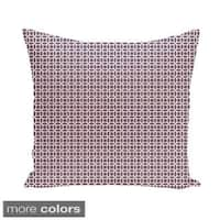 Abstract Trellis Geometric 20-inch Decorative Pillow
