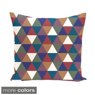 Abstract Triangle Geometric 20-inch Decorative Pillow
