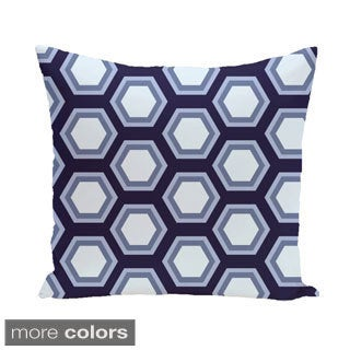 Large Honeycomb Geometric 20-inch Decorative Pillow