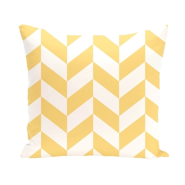 Mixed Chevron Geometric 20-inch Decorative Pillow
