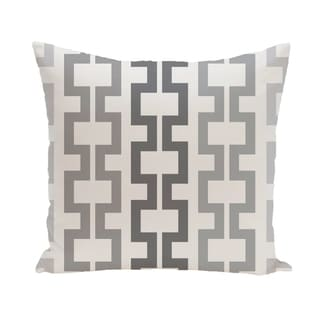 Geometric Tribal 20-inch Decorative Pillow (Grey)
