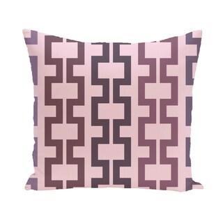 Geometric Tribal 20-inch Decorative Pillow (Purple/Pink)
