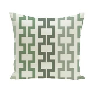 Geometric Tribal 20-inch Decorative Pillow (Green)