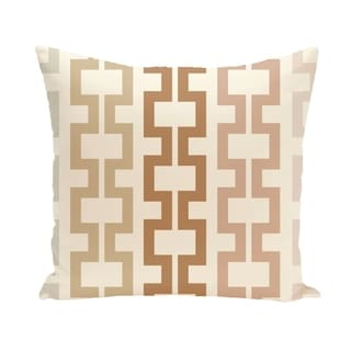 Geometric Tribal 20-inch Decorative Pillow (Brown/Off-White)