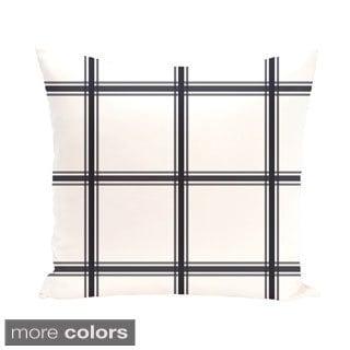 Simple Plaid Geometric 20-inch Decorative Pillow