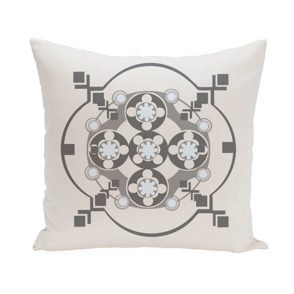 Geometric Floral Burst 20-inch Decorative Pillow