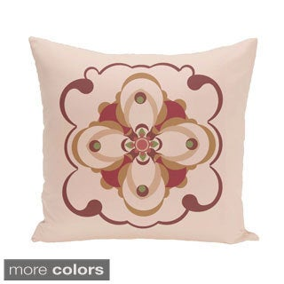 Abstract Floral Geometric 20-inch Decorative Pillow