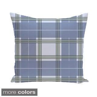 Plaid Geometric Accent 20-inch Pillow