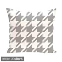 Houndstooth Geometric 20-inch Decorative Pillow