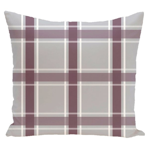 Plaid Geometric 20-inch Accent Pillow
