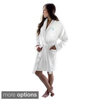 Personalized Initial White Plush Robe