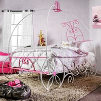 Furniture of America Princess Fantasy Carriage-inspired Metal Bed