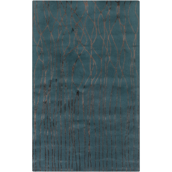 Hand-Tufted Colleen Abstract New Zealand Wool Area Rug