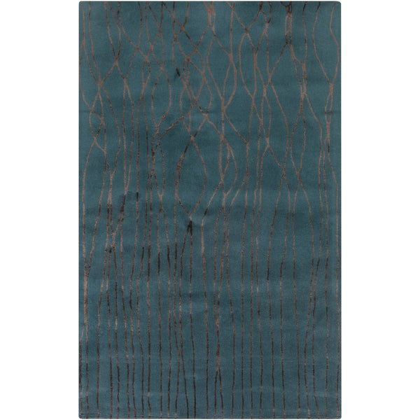Hand-Tufted Colleen Abstract New Zealand Wool Area Rug (2' x 3')