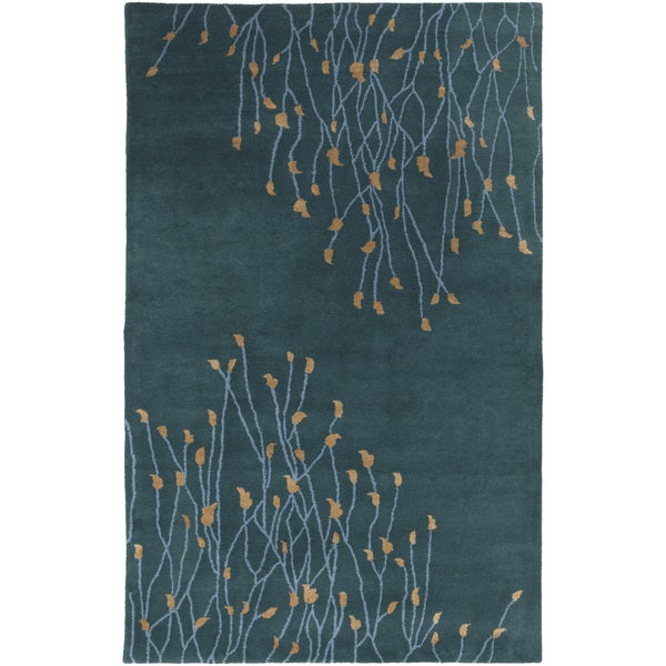 Hand-Tufted Charles Floral New Zealand Wool Area Rug