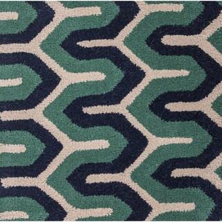 Hand-Tufted Delaney Geometric New Zealand Wool Rug (8' x 11')