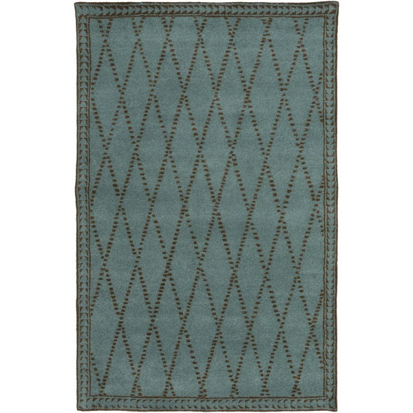 Hand-Tufted Vanessa Geometric Wool Area Rug (5' x 8')