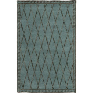 Hand-Tufted Vanessa Geometric Wool Rug (5' x 8')