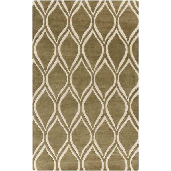 Hand-Tufted x zavier Geometric Wool Area Rug