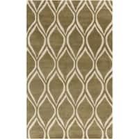 Hand-Tufted x zavier Geometric Wool Area Rug - 5' x 8'