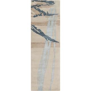 Hand-Tufted Bridget Abstract New Zealand Wool Rug (2'6 x 8')