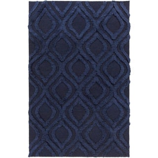 Hand-Woven Malcolm Solid Pattern Wool Rug (5' x 8')