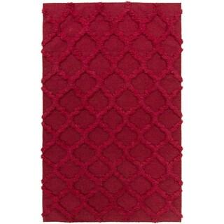 Hand-Woven Marilyn Lattice Pattern Wool Rug (5' x 8')