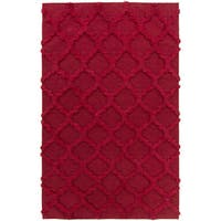Hand-Woven Marilyn Lattice Pattern Wool Area Rug - 5' x 8'
