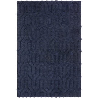 Hand-Woven Matilda Solid Pattern Wool Area Rug