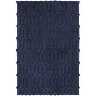 Hand-Woven Matilda Solid Pattern Wool Rug (5' x 8')