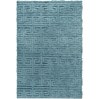 Hand-Woven Matthew Solid Pattern Wool Rug (5' x 8')