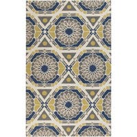 Hand-Knotted Catalina Medallion Pattern Wool Area Rug
