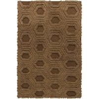 "Hand-Woven Makenna Solid Pattern Wool Area Rug - 3'6"" x 5'6"""