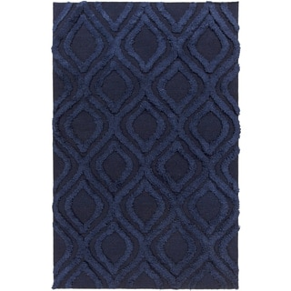 Hand-Woven Malcolm Solid Pattern Wool Rug (3'6 x 5'6)